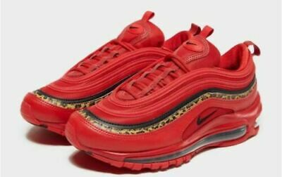 c25f8a581c87a Nike Air Max 97 OG - Red With Black   Leopard Animal Print - Women s 2.5