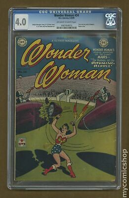 Wonder Woman (1st Series DC) #34 1949 CGC 4.0 0987454015