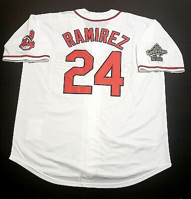 Manny Ramirez Jersey Cleveland Indians Throwback Jersey World Series Size  XXL 9d0829a14