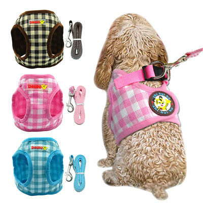 Mesh Small Dog Harness with Leash Set for Small Medium Dogs Puppy Chihuahua