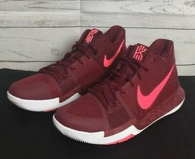 bb04765d6c8 Nike Kyrie 3 Hot Punch Sz 11 Team Red White Irving Basketball Shoes  852395-681