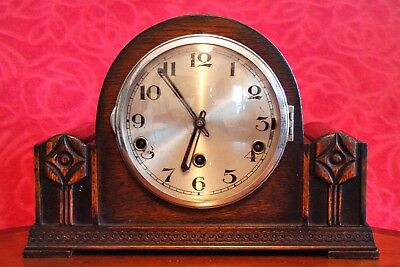 Vintage Art Deco Rare English 'Norland' Mantel Clock with Westminster Chimes