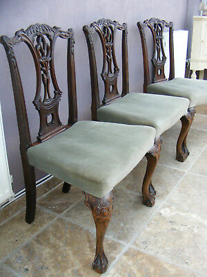 3 antique Georgian style kitchen / dining chairs / hall / bedroom chairs