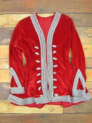 Medieval / Tudor Costume Red Velvet Top With Silver Trim World Book Day UK 8