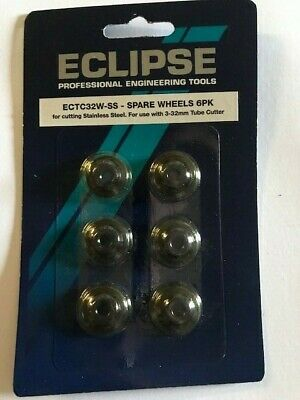 6 X Eclipse Pipe Cutters Tube Cutter Replacement Spare Wheels