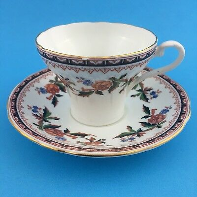 Aynsley Teacup and Saucer Floral Corset Style 2Pc Set England Bone China Vintage