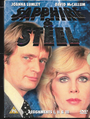 Sapphire And Steel Assignments 1-3 Genuine R2 Dvd Boxset Joanna Lumley 3-Disc Vg
