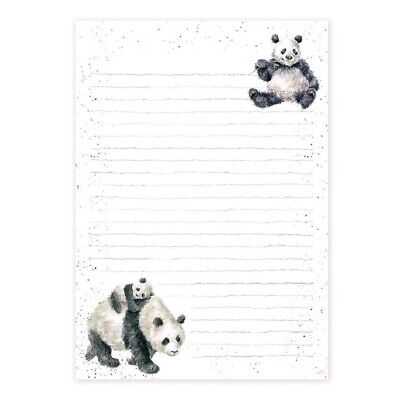 Wrendale Designs - A5 Jotter Pad Panda Design - 52 Lined Pages Writing Paper