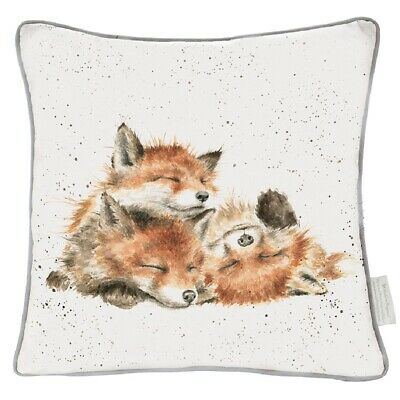The Country Set Contentment - Foxes Large Cushion - 60 x 60cm - Feather Filled