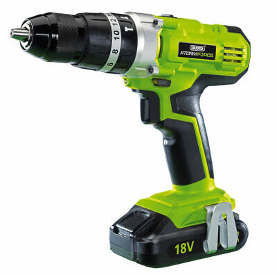 82799 Draper 18V LI-ION DRILL STORMFORCE EU with UK Spare Plugs Guaranteed
