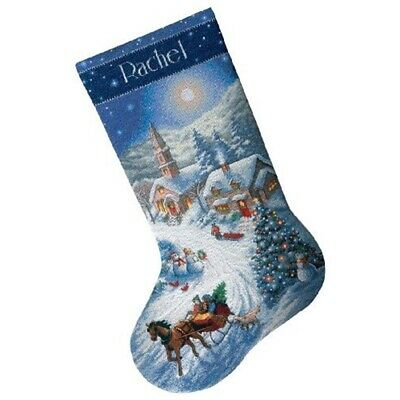 Dimensions Counted X Stitch -gold: Stocking: Sleigh Ride - Sleigh Ride Dusk
