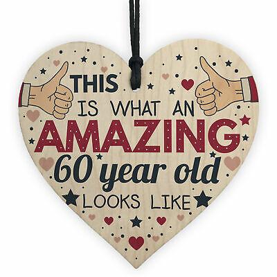 AWESOME 60 Year Old Funny 60th Birthday Gift Card Wood Keepsakes