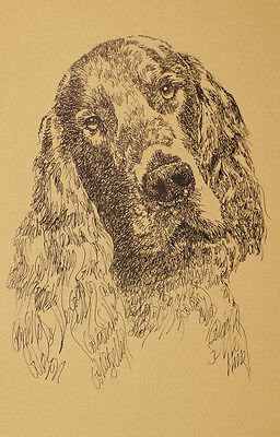 GORDON SETTER DOG ART PRINT #26 Kline Magic Drawing YOUR DOGS NAME ADDED FREE
