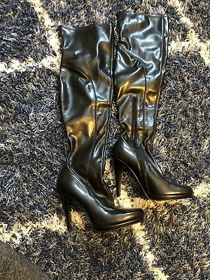 d0a525e84f5 WOMEN S NINE WEST Over The Knee Boots - OoohAah - Black Fabric - New ...