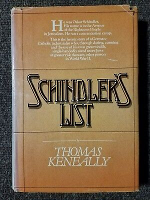 Schindler's List by Keneally 1st Edition 1st Printing Hardcover Book 1982 W/Dust
