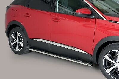 Pedane Poggiapiedi Ovali , Oval Side Bar With Steps , Per Peugeot 3008 - '16 >
