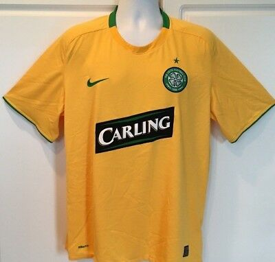 da2d4baba Nike Fit Dry Celtic Football Club Carling Men s Soccer Jersey XL Yellow EUC