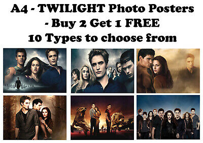 Twilight Movie Posters Photo Poster Print ONLY Wall Art A4 - 14 types available