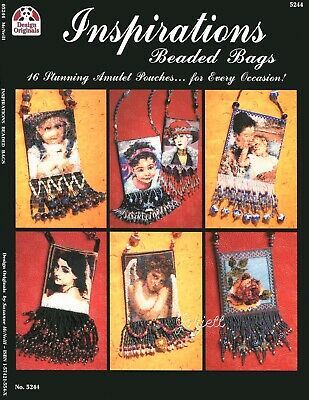 Inspirations Beaded Bags ~ 16 Portraits & Pictures beading pattern booklet NEW