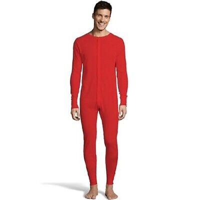 3XL Men's Hanes Thermal Underwear Union Suit Red NEW