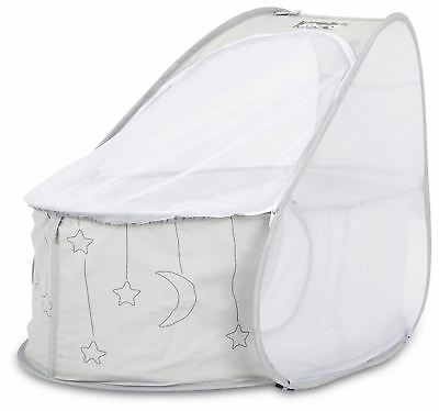 Koo-di POP-UP TRAVEL BASSINET GREY Baby Travel Sleep - BN