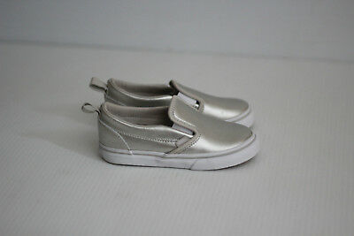 54a199dd1722 Vans Kids Girls Boys Classic Slip On Sneaker- Metallic Silver - Toddler  Size 9.5