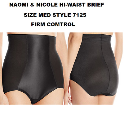 76298c87cfa6b Naomi   Nicole Hi-Waist Brief Firm Control Size Med Style 7125 New With Tags