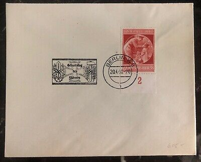 1940 Berlin Germany First Day Cover FDC Leader Birthday Stamp Issue