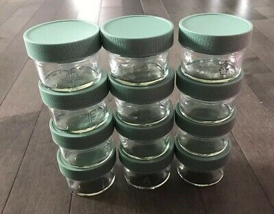 Sage Spoonfuls Glass Big Batch, 4 Ounce(Pack of 12) 12 4oz jars