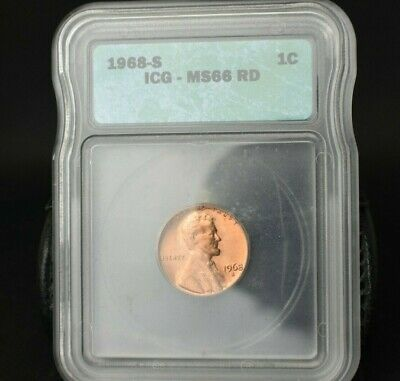 1968-S Lincoln Memorial Cent Penny~1C~Ms66Rd~Beautiful Coin~Rare~Bright Red~