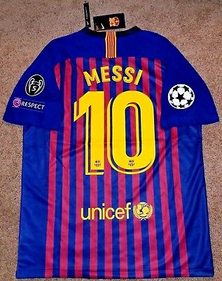 the best attitude 6a41e 2fe54 FC BARCELONA 18/19 Champions League football jersey camiseta MESSI 10 Large