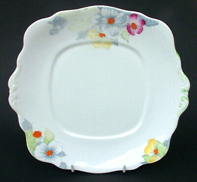 Vintage 1930's Bell China 2837 Pattern Spring Flowers Cake Sandwich Plate 25cm