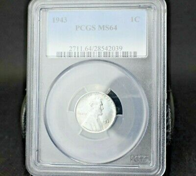 1943 1C Lincoln Steel Cent~Pcgs Ms64~Only Made One Year~Great Collector Item~!