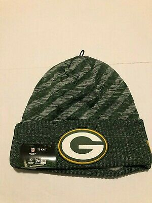 58edd87d49733f New Era Green Bay Packers Green 2018 NFL Sideline Cold Weather Official TD  Knit