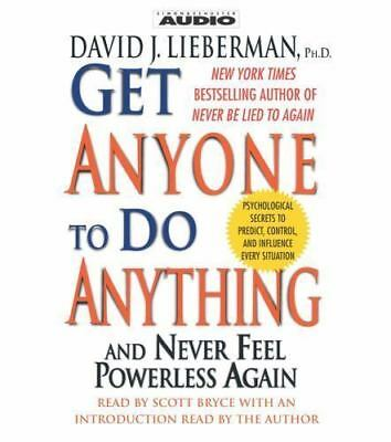 Get Anyone to do Anything NLP Persuasion Influence David Lieberman Audiobook CD