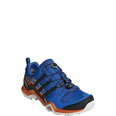 size 40 ee6b8 5347d Adidas Sport Performance Terrex Swift R2 GTX Black Orange Mens Hiking Shoes