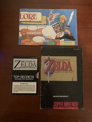 SNES Zelda A Link To The Past Instruction Booklet, Map, Top Secrets ONLY