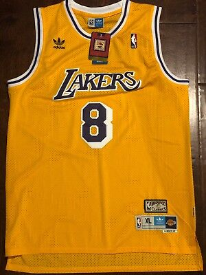 b0cebd005 Kobe Bryant  8 Los Angeles Lakers Vintage Yellow Throwback Basketball Jersey  Men