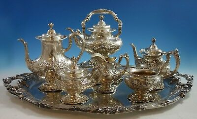 Francis I By Reed & Barton Sterling Silver Tea Set 6pc w/ Sterling Tray (#2118)