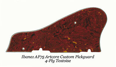 AF75 Artcore Custom 4-Ply Tortoise Pickguard for Ibanez Guitar Project W/Bracket