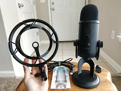 BLUE MICROPHONES Yeti Professional USB Microphone BLACKOUT with Shock Mount
