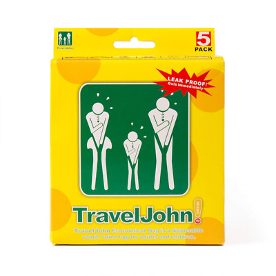 Travel John 18 Disposable Urinals Men, Women & Children