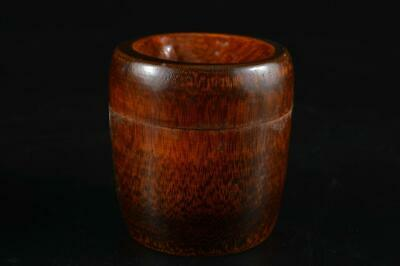 G1057: Japanese Bamboo TEA CADDY Natsume Chaire Container w/box Tea Ceremony
