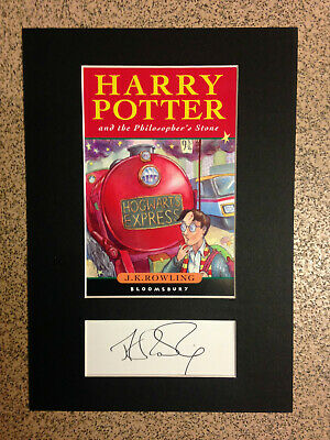 J.K.Rowling - Harry Potter & The Philosophers Stone- RARE Book Cover & Autograph