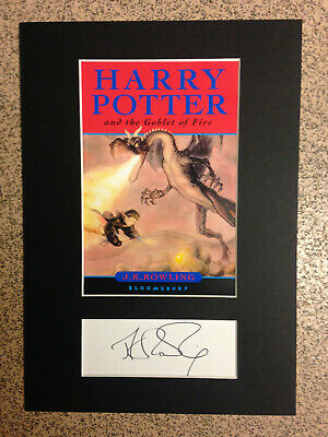 J.K.Rowling - Harry Potter & The Goblet Of Fire -* RARE* Autograph & Book Cover