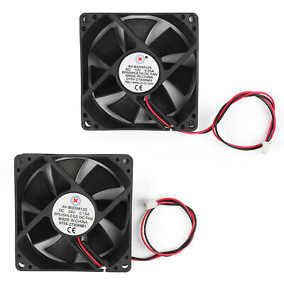 DC Brushless Cooling PC Computer Fan 12V 24V 8025s 80x80x25mm 0.2A 2Pin Wire UM