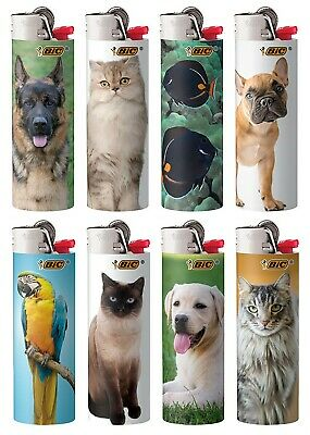 BIC Special Edition Animal Lovers Series Lighters Set of 8 Lighters New Designs!