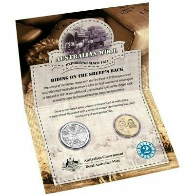 2011 Commemorating the Australian Wool Industry, Uncirculated 2-Coin set