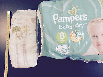 Pampers baby dry taille 8, 1 couche XXL adult baby ABDL diaper pour essai/trial