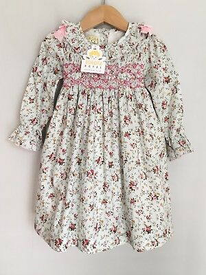 1cde019fe Aurora Royal Smocked Baby Dress Size 18-24 Months 2 Years BNWT Floral Pink  Mint
